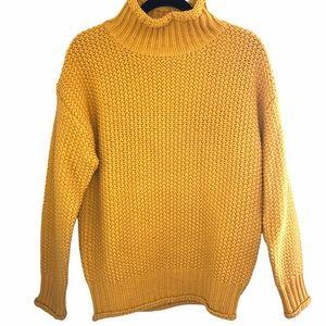 Molly Bracken yellow mock neck sweater
